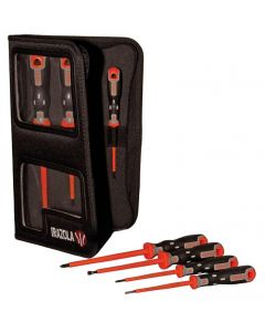 7 Piece TeknoPlus VDE Slot/Pozi Screwdriver Set In Wallet