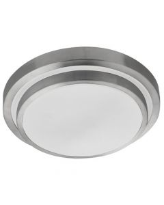 White LED IP44 Flush Light with Aluminium Trim