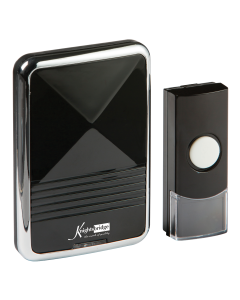 Black Plug-in Wireless Door Chime