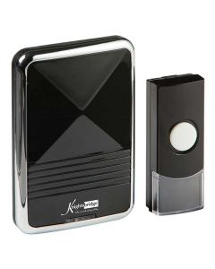 Black Battery Powered Wireless Door Chime (200m range)