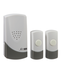 White Wireless Dual Entrance Door Chime Kit - (100m range)