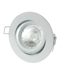 White Tilt GU10 IP20 Die-Cast Downlight