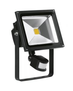 30W Adjustable IP65 LED Floodlight c/w PIR Sensor