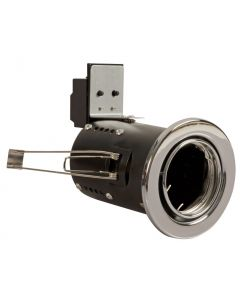 Chrome Fire Rated Tilt GU10 IP20 Pressed Steel Downlight