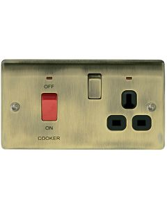 45A DP Switch with 13A Switched Socket & Neon